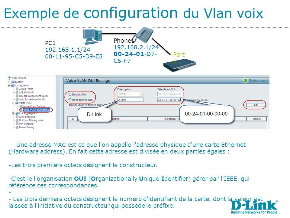 Exemple de configuration du Vlan voix