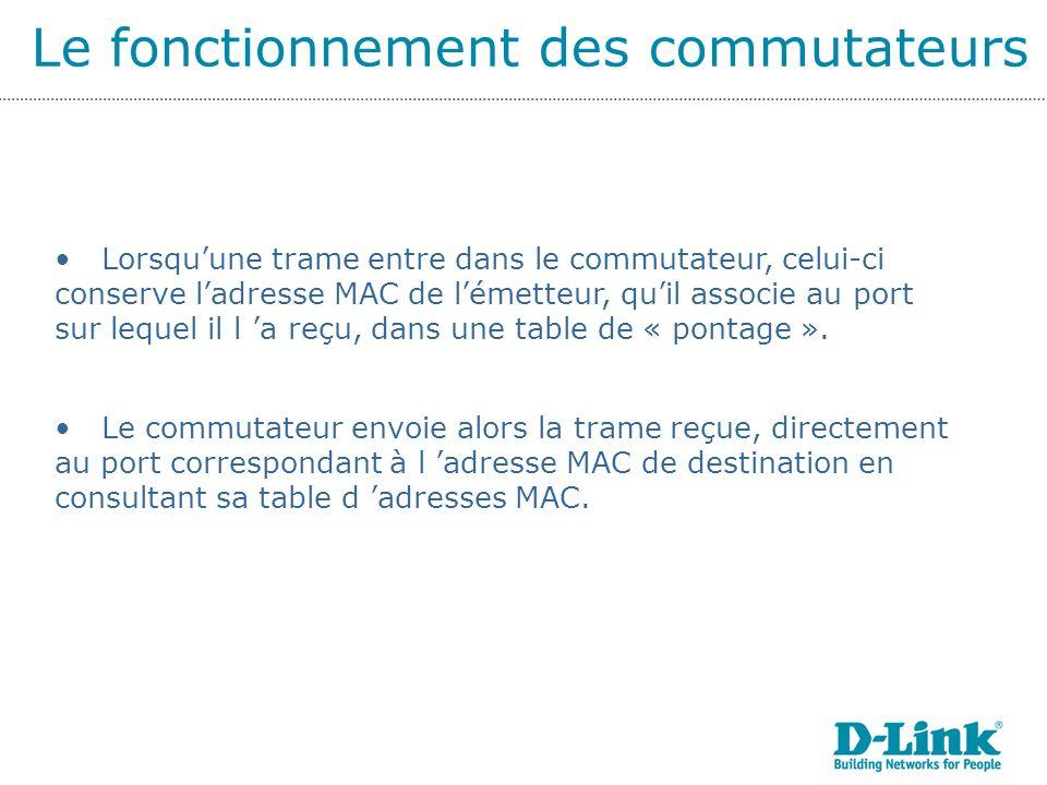 Le fonctionnement des commutateurs