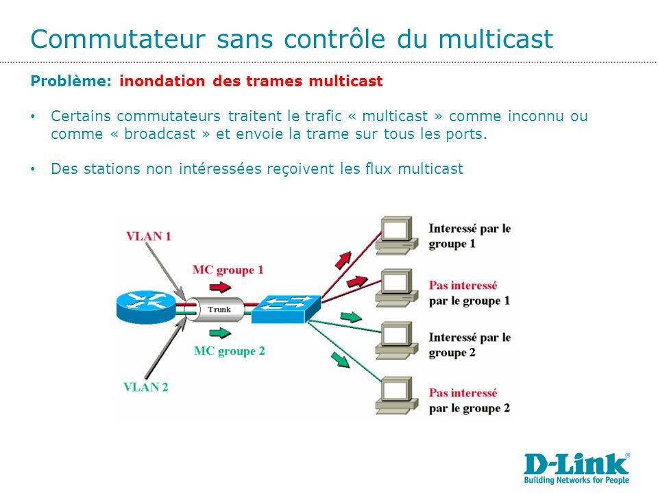 Commutateur sans contrôle du multicast