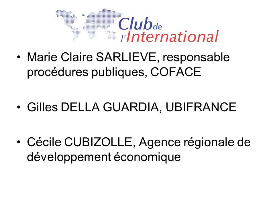Marie Claire SARLIEVE, responsable procédures publiques, COFACE