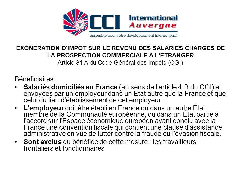 Article 81 A du Code Général des Impôts (CGI)