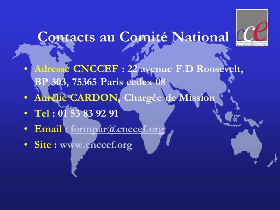 Contacts au Comité National