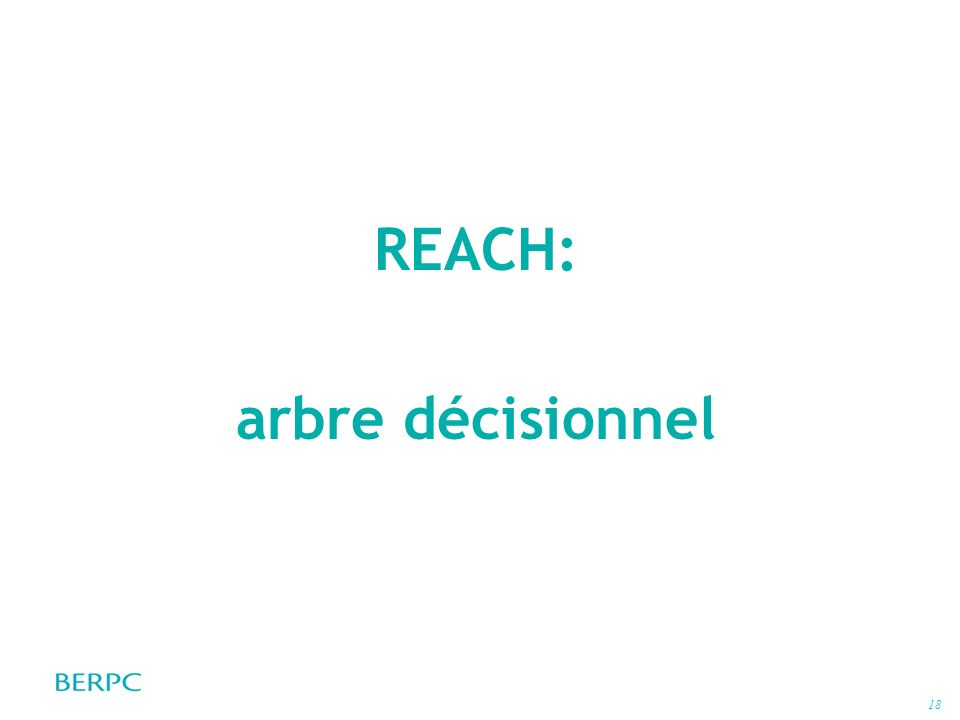 REACH: arbre décisionnel