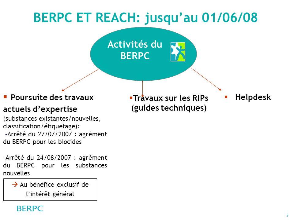 BERPC ET REACH: jusqu'au 01/06/08