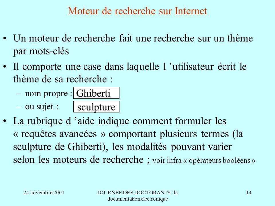 Moteur de recherche sur Internet
