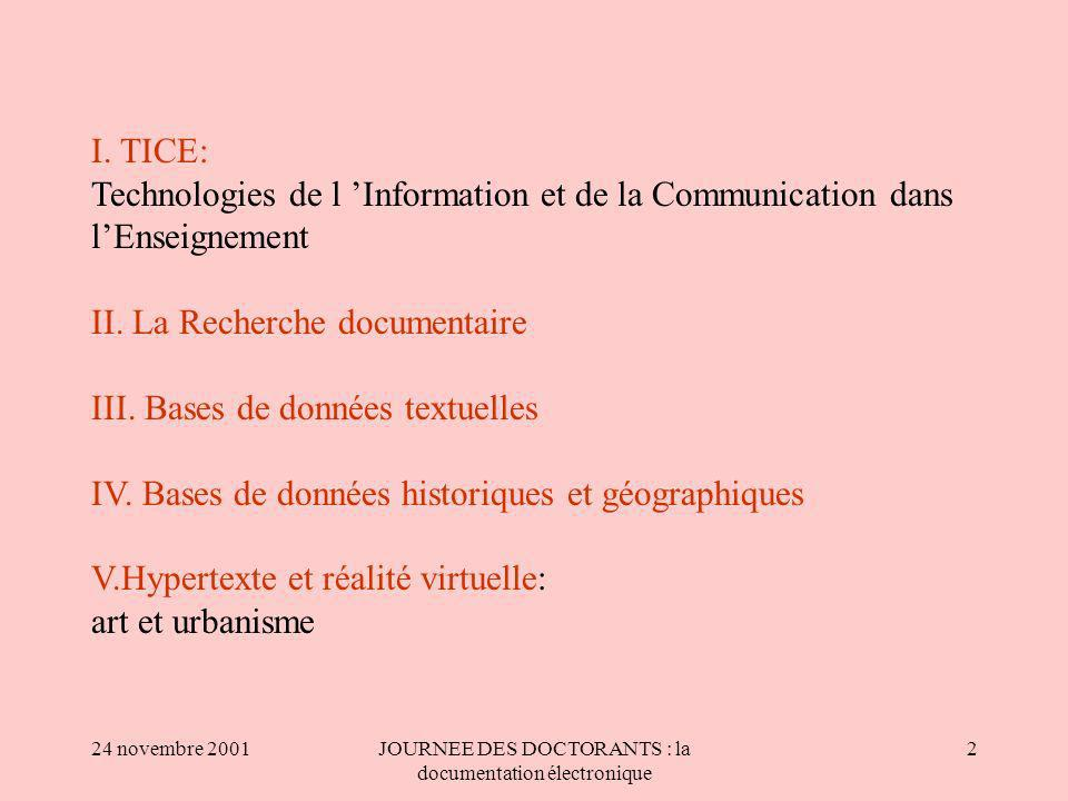 JOURNEE DES DOCTORANTS : la documentation électronique