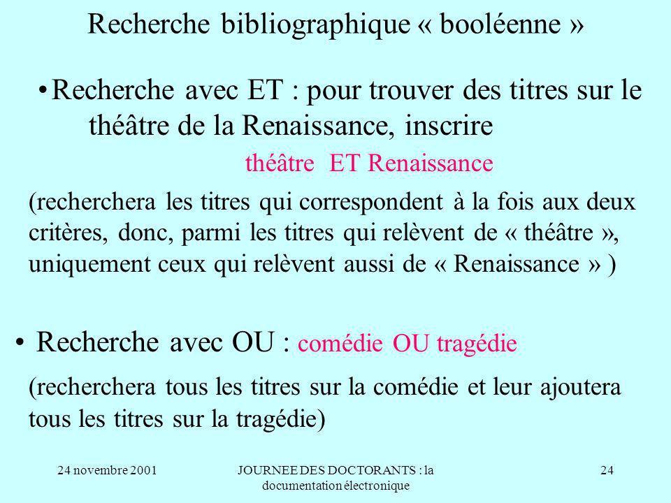 Recherche bibliographique « booléenne »