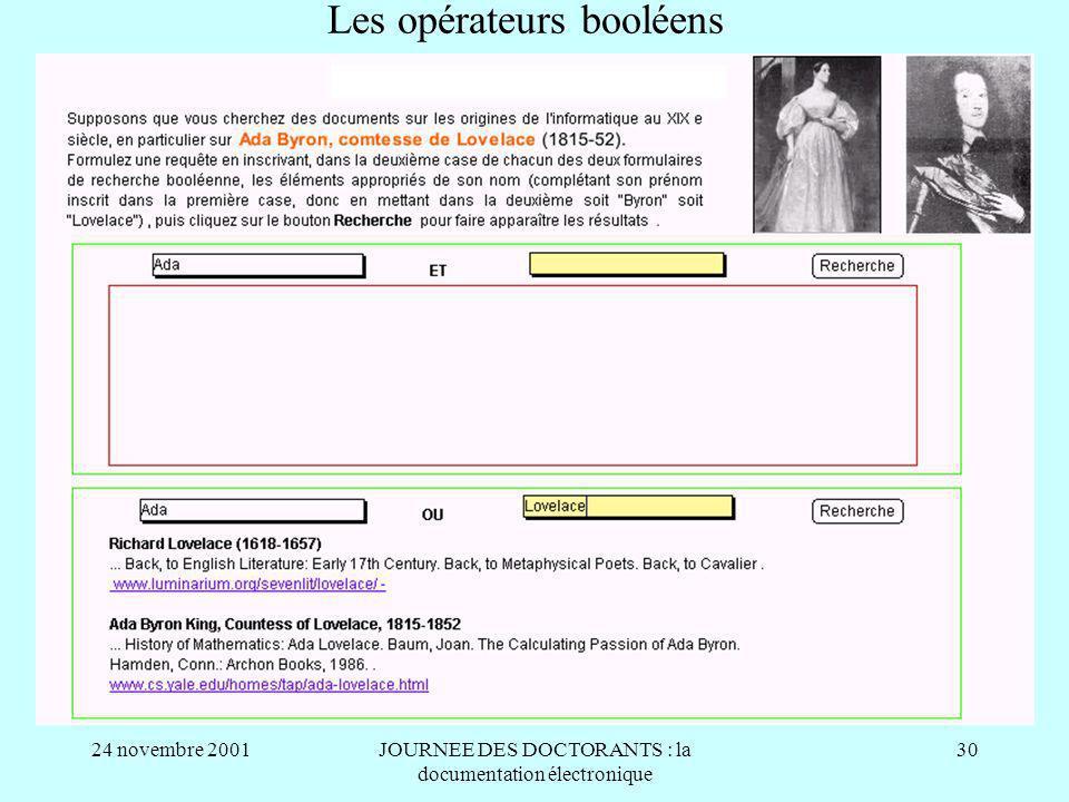 Les opérateurs booléens