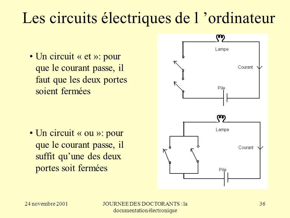 Les circuits électriques de l 'ordinateur