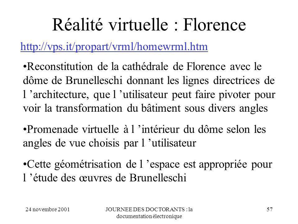 Réalité virtuelle : Florence