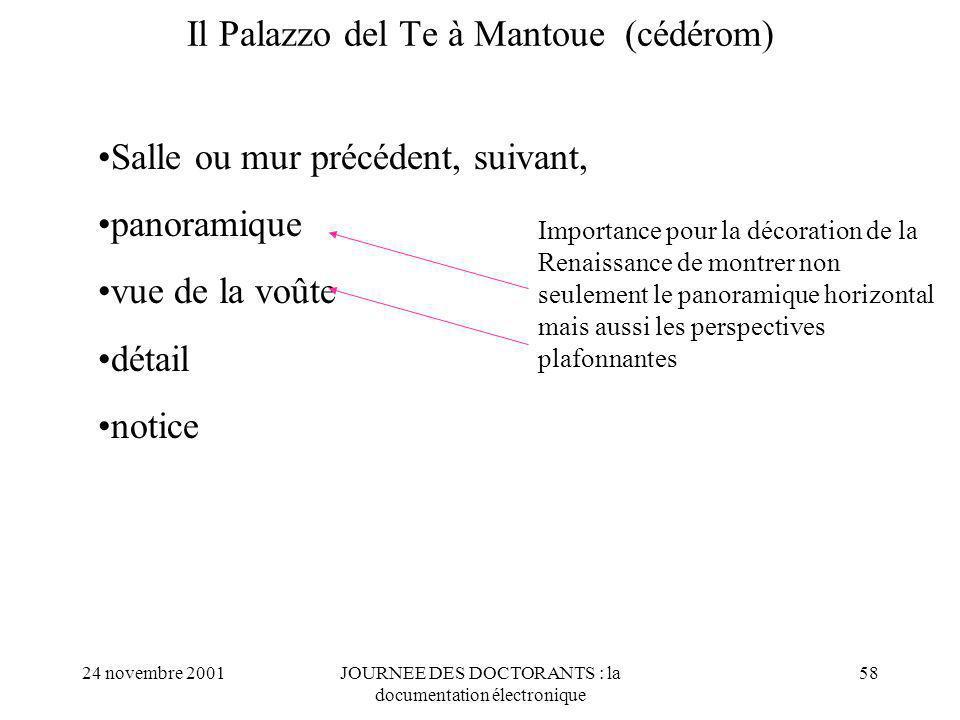 Il Palazzo del Te à Mantoue (cédérom)