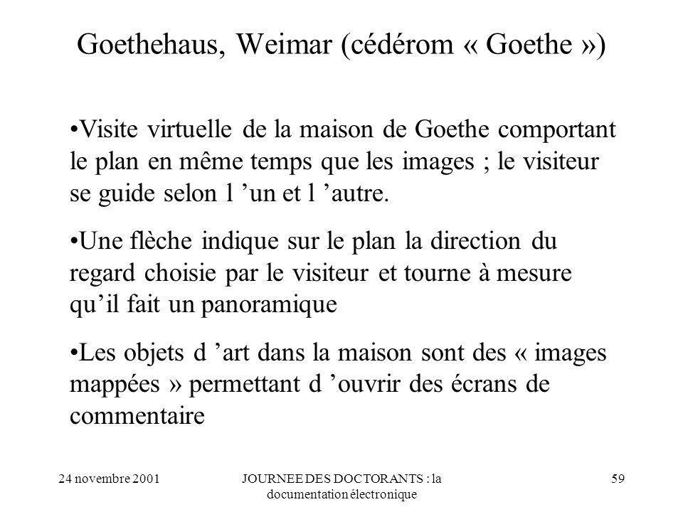 Goethehaus, Weimar (cédérom « Goethe »)