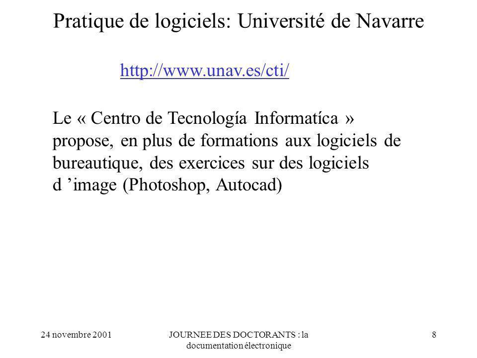 Pratique de logiciels: Université de Navarre