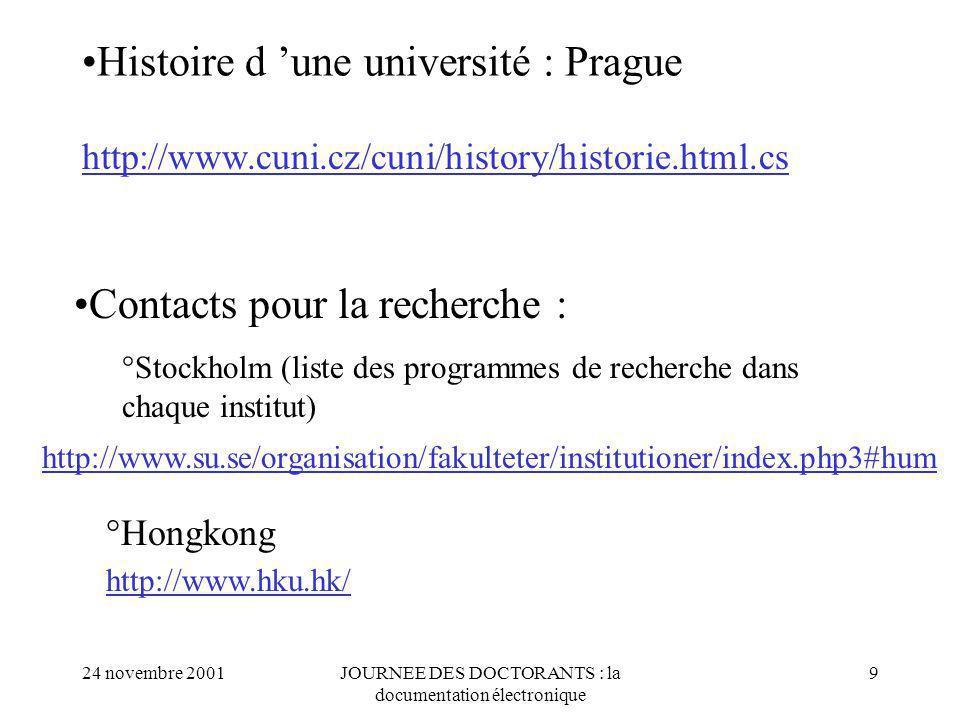 Histoire d 'une université : Prague