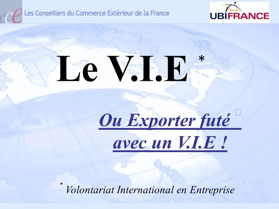 Ou Exporter futé ⓡavec un V.I.E !
