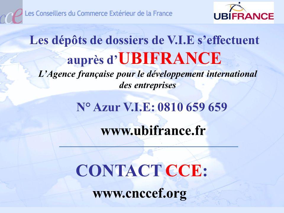 CONTACT CCE: www.ubifrance.fr www.cnccef.org