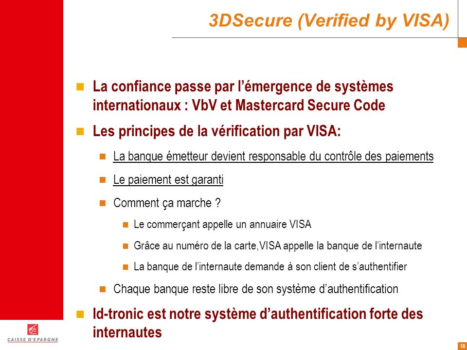 3DSecure (Verified by VISA)