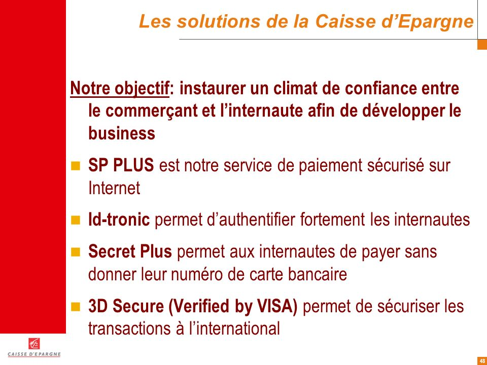 Les solutions de la Caisse d'Epargne