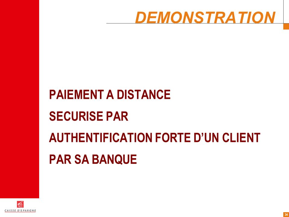 DEMONSTRATION PAIEMENT A DISTANCE SECURISE PAR
