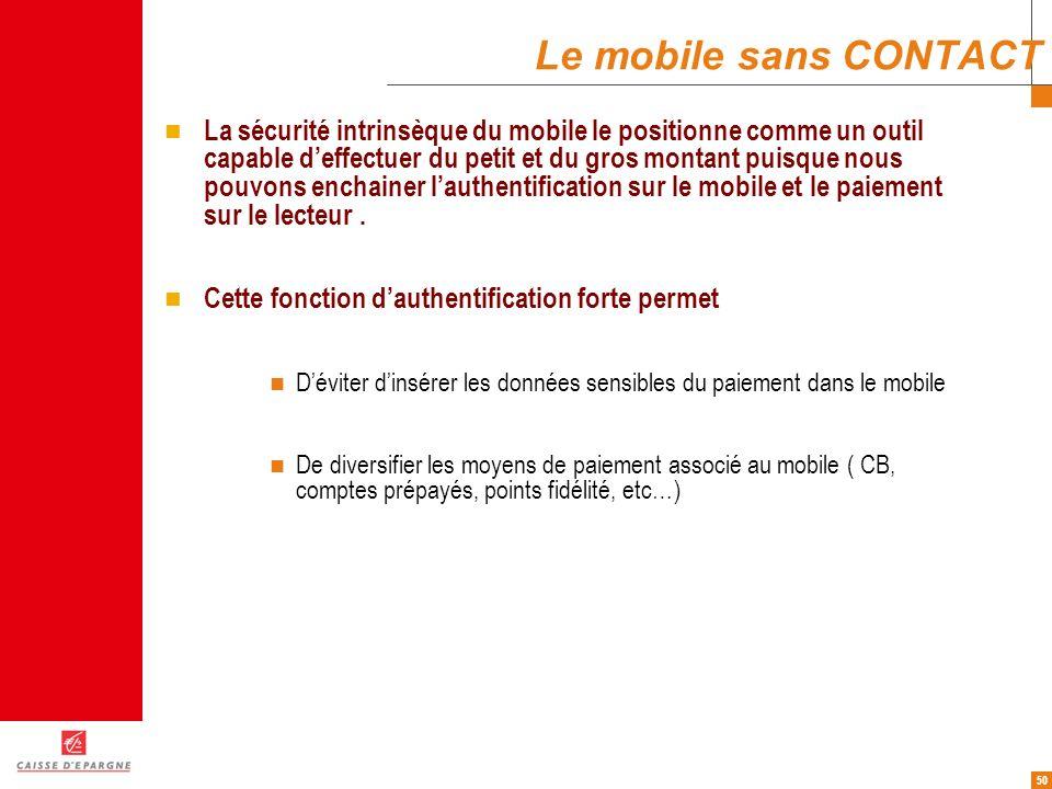 Le mobile sans CONTACT