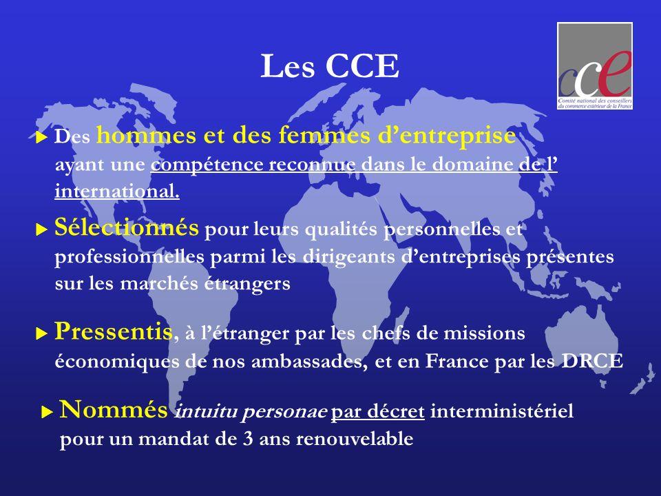 Les CCE sur les marchés étrangers pour un mandat de 3 ans renouvelable