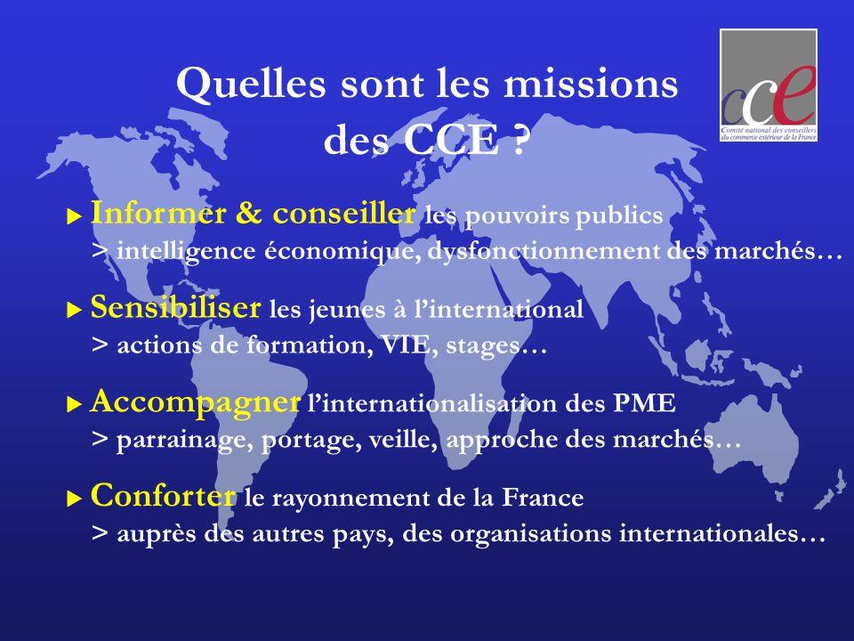 Quelles sont les missions des CCE