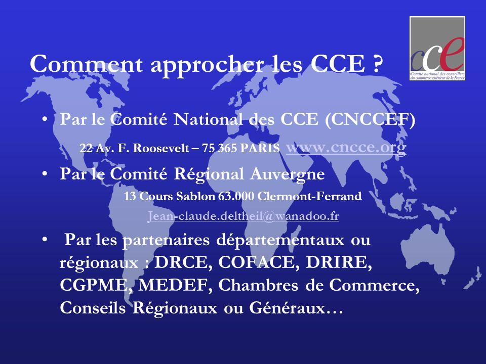 Comment approcher les CCE