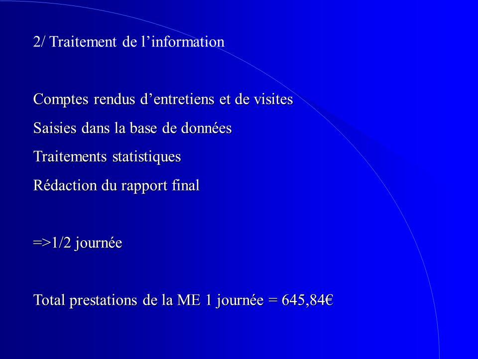 2/ Traitement de l'information