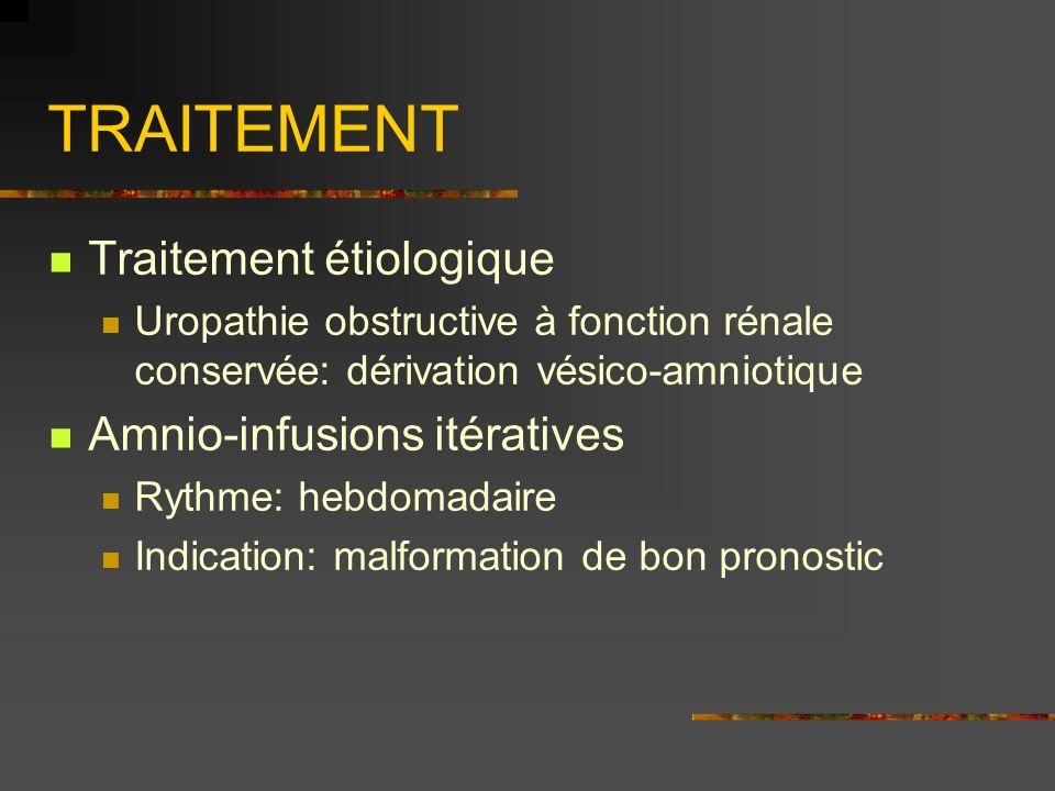TRAITEMENT Traitement étiologique Amnio-infusions itératives