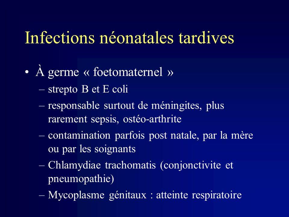 Infections néonatales tardives