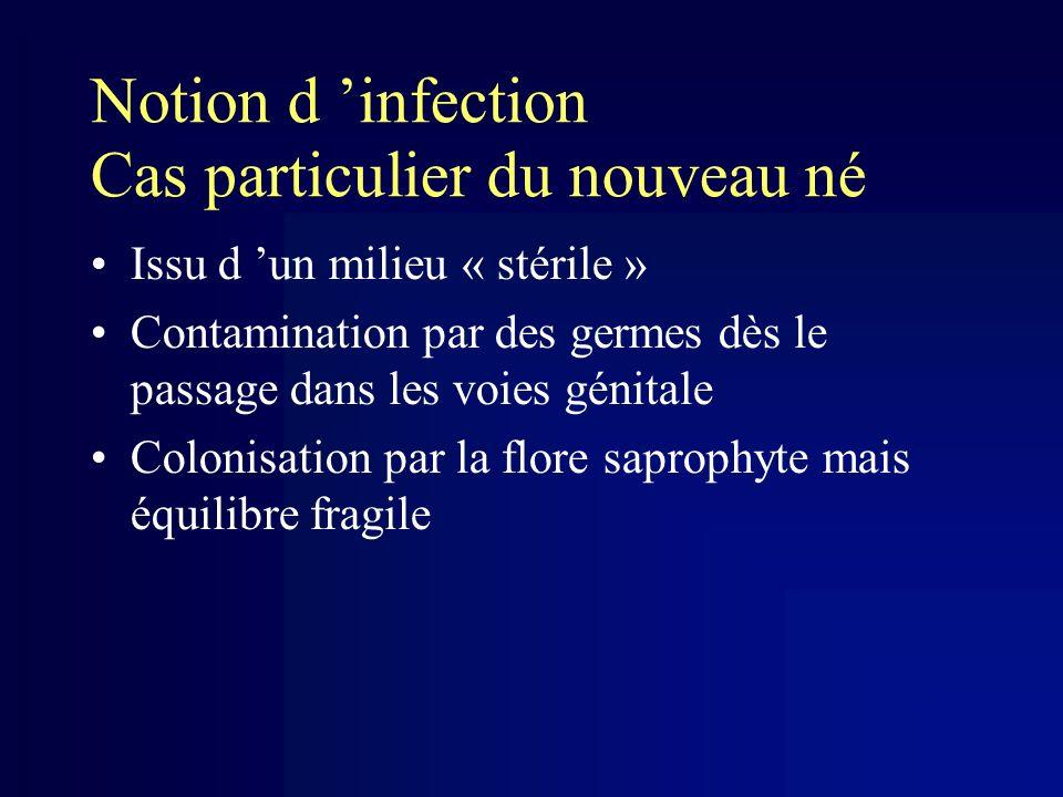 Notion d 'infection Cas particulier du nouveau né