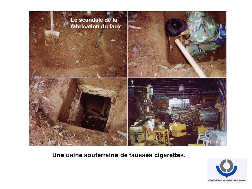 Une usine souterraine de fausses cigarettes.
