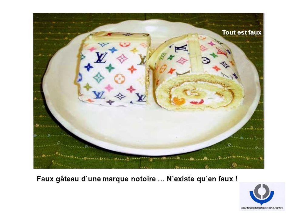 Faux gâteau d'une marque notoire … N'existe qu'en faux !