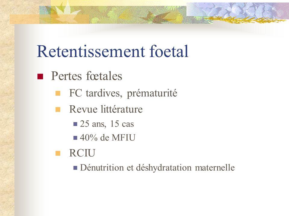 Retentissement foetal