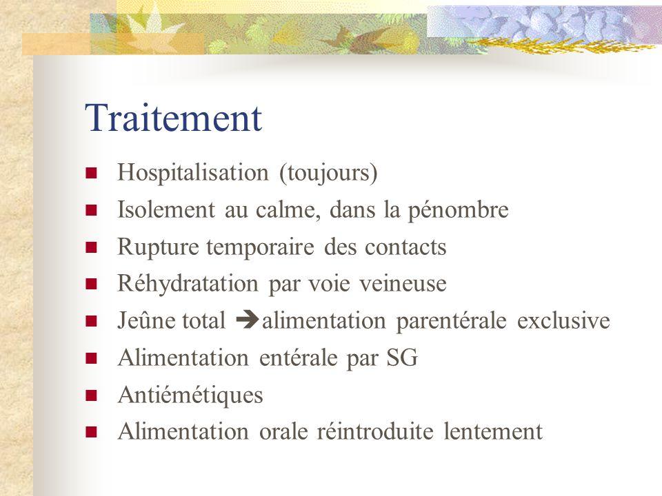 Traitement Hospitalisation (toujours)