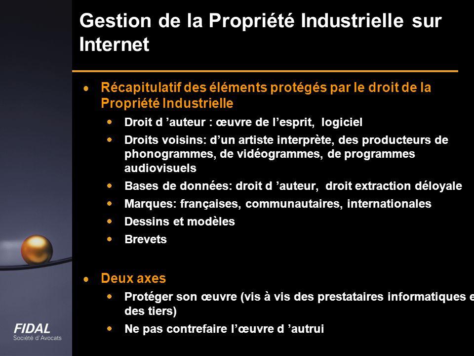 Gestion de la Propriété Industrielle sur Internet