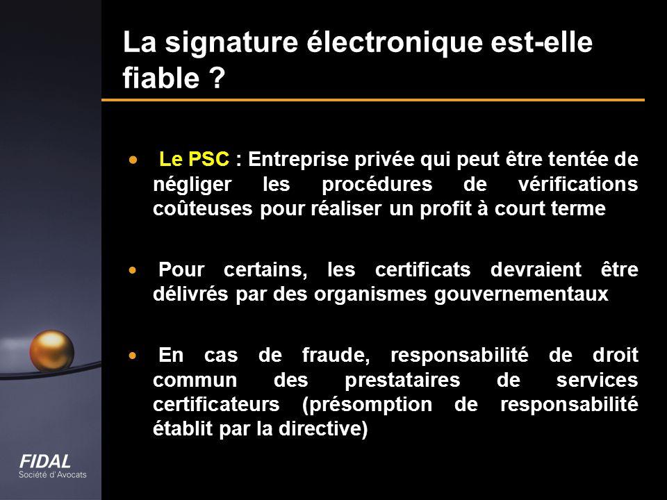 La signature électronique est-elle fiable