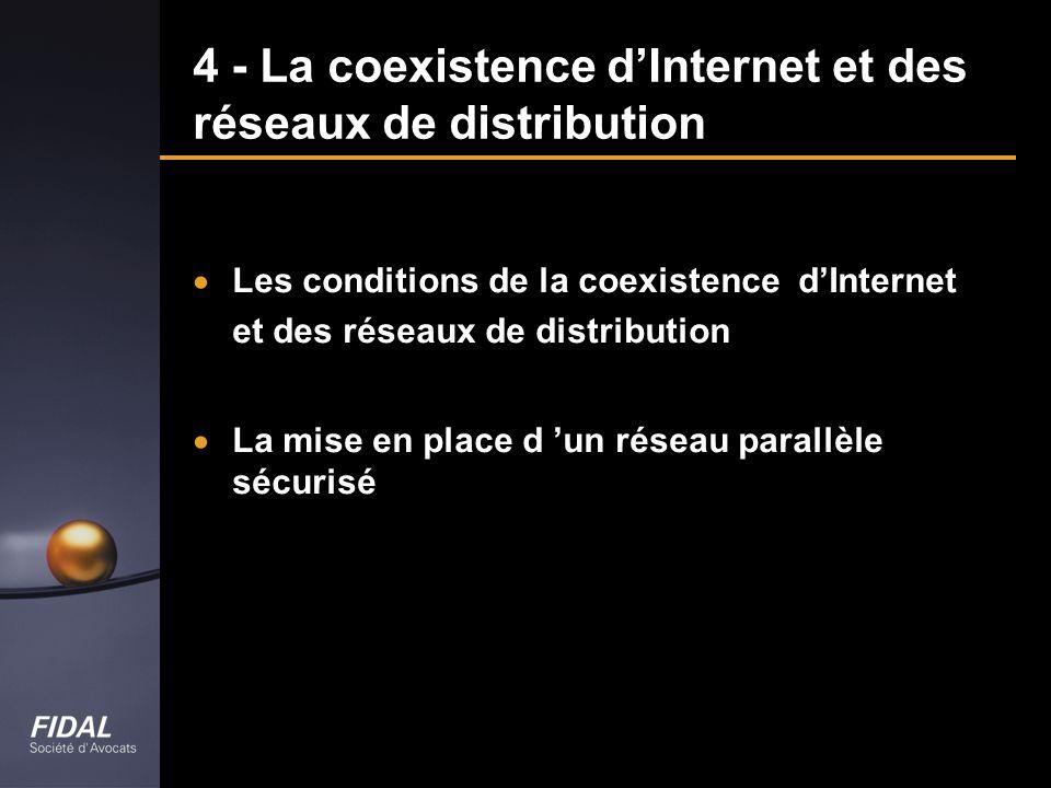 4 - La coexistence d'Internet et des réseaux de distribution
