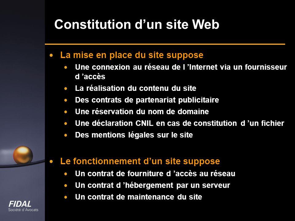 Constitution d'un site Web