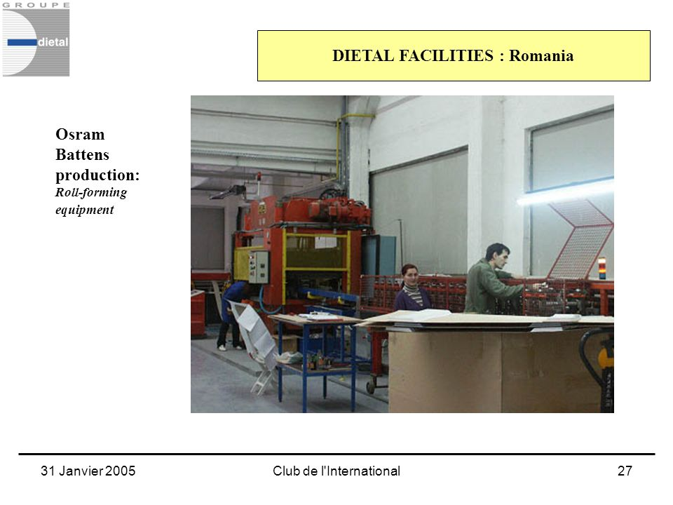 DIETAL FACILITIES : Romania