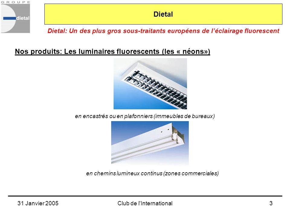 Nos produits: Les luminaires fluorescents (les « néons»)