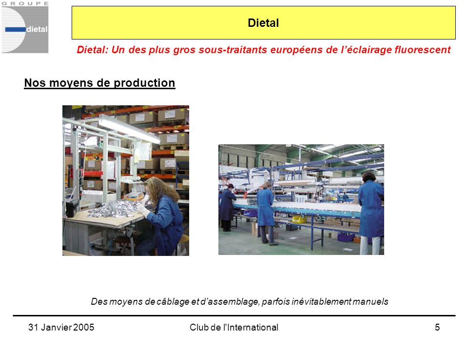 Nos moyens de production