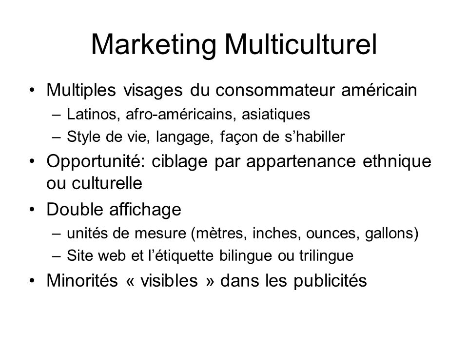 Marketing Multiculturel