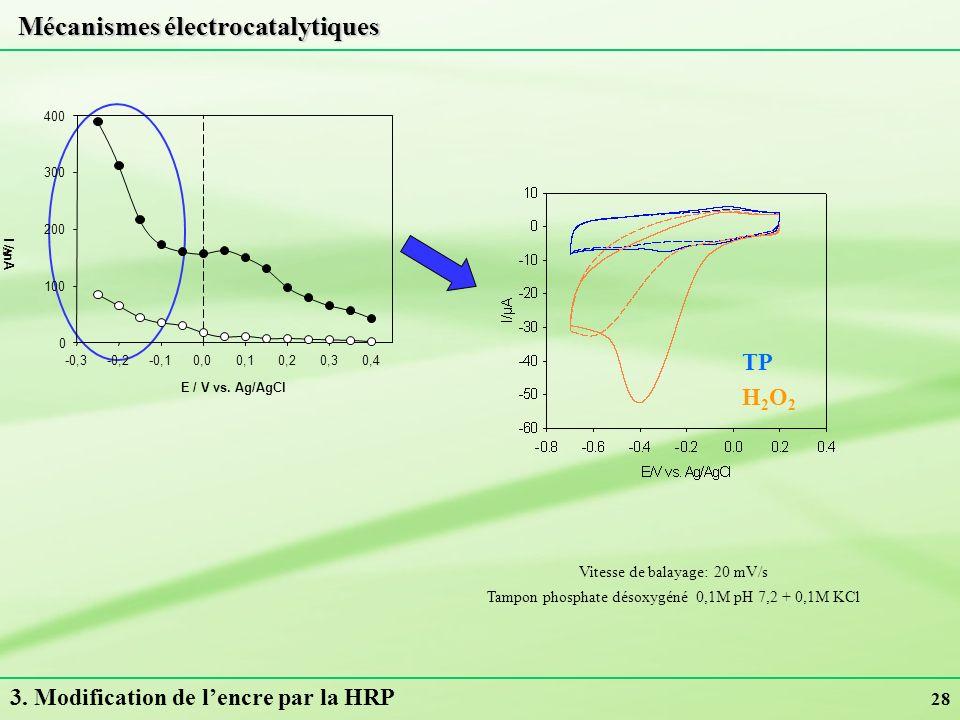 Mécanismes électrocatalytiques