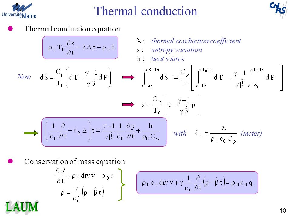 Thermal conduction Thermal conduction equation