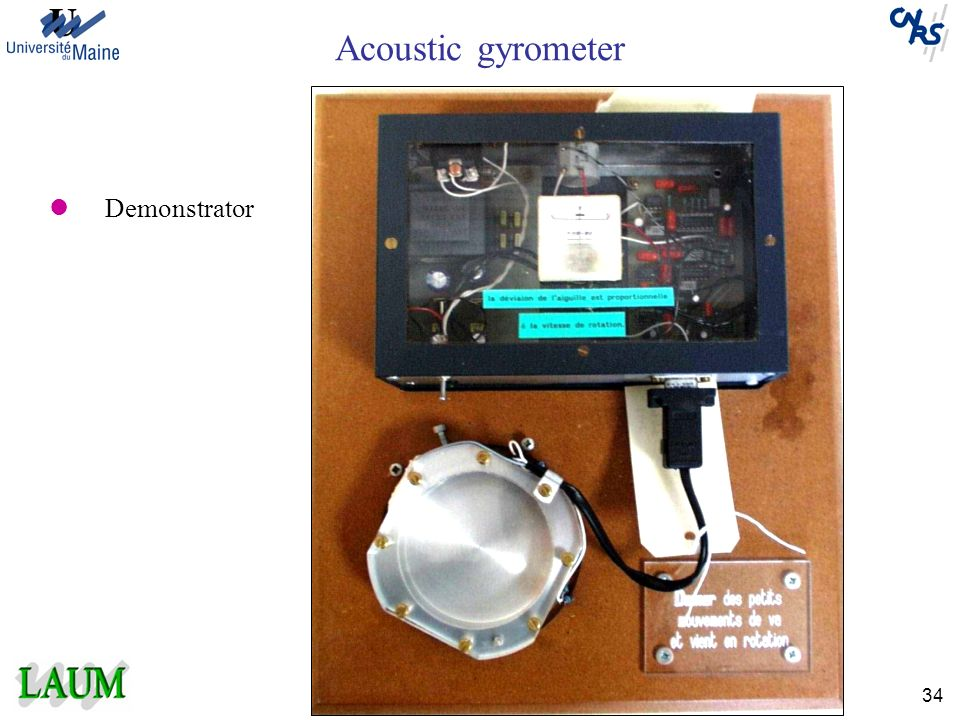Acoustic gyrometer Demonstrator