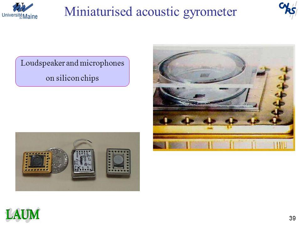 Miniaturised acoustic gyrometer