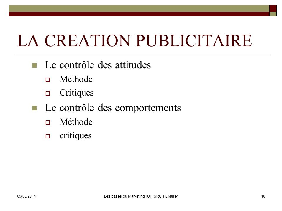 LA CREATION PUBLICITAIRE