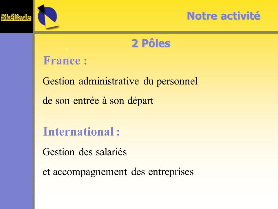 France : International : Notre activité 2 Pôles