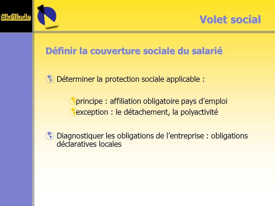 Volet social Définir la couverture sociale du salarié
